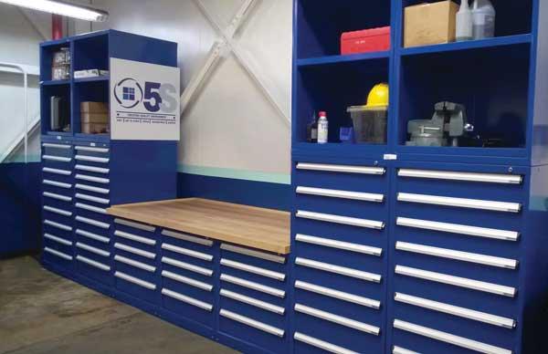Industrial Storage HD Shelves with worktop