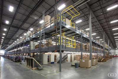 Mezzanines industrial storage solutions
