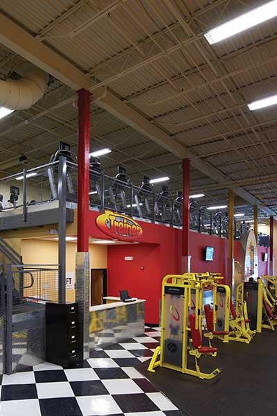 Mezzanine for sports fitness