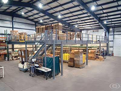 Multipurpose warehouse mezzanines