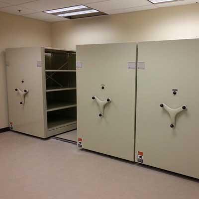 Aisle Saver Mechanical Storage