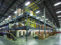Multipurpose warehouse mezzanines