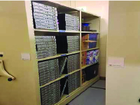 High density mobile storage aisle saver