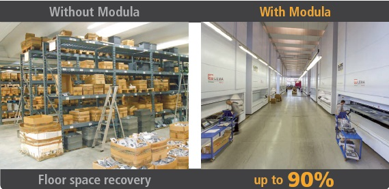 Modula Vertical Lift for commercial storage